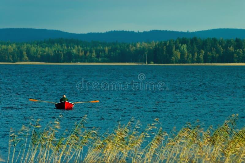 Finnischer See stockbild