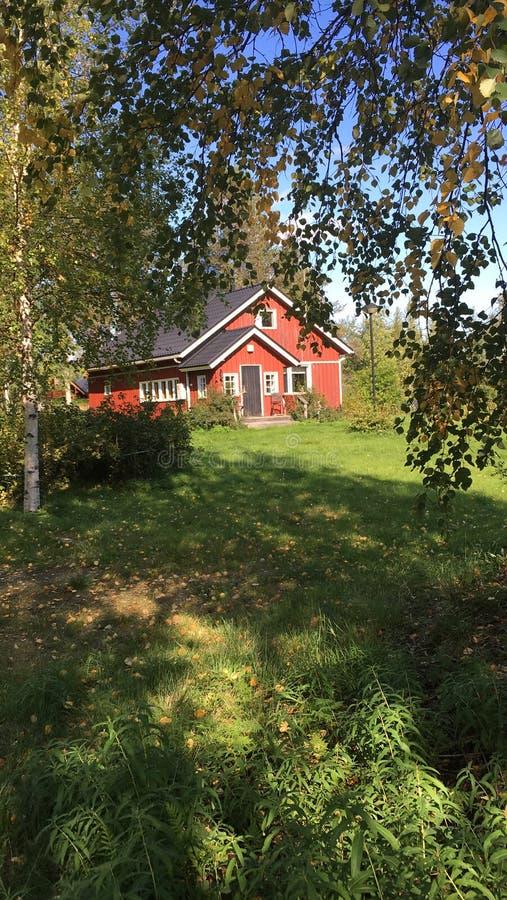 Finnisches Haus lizenzfreies stockbild