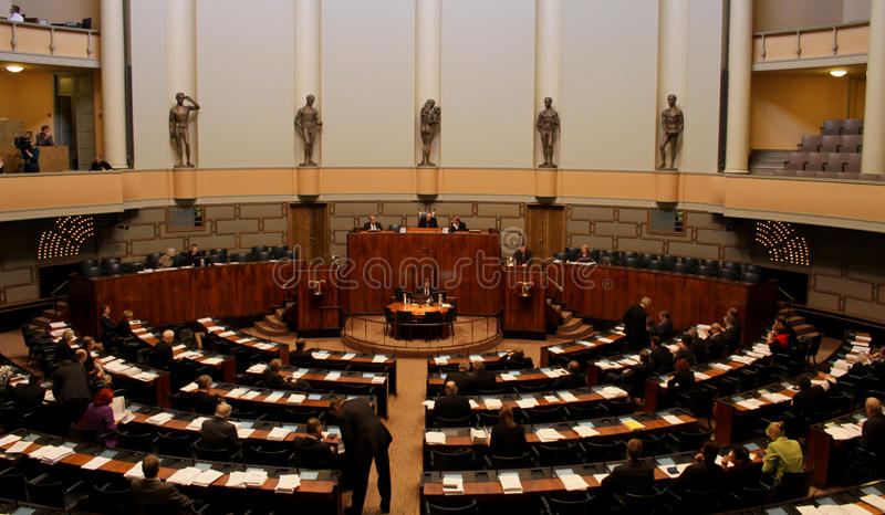 Finnisches Parlament lizenzfreies stockbild