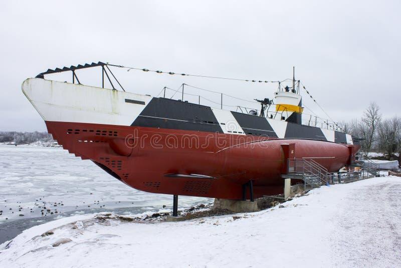 Finnisches Unterwasser-Vesikko, Suomenlinna stockfotos