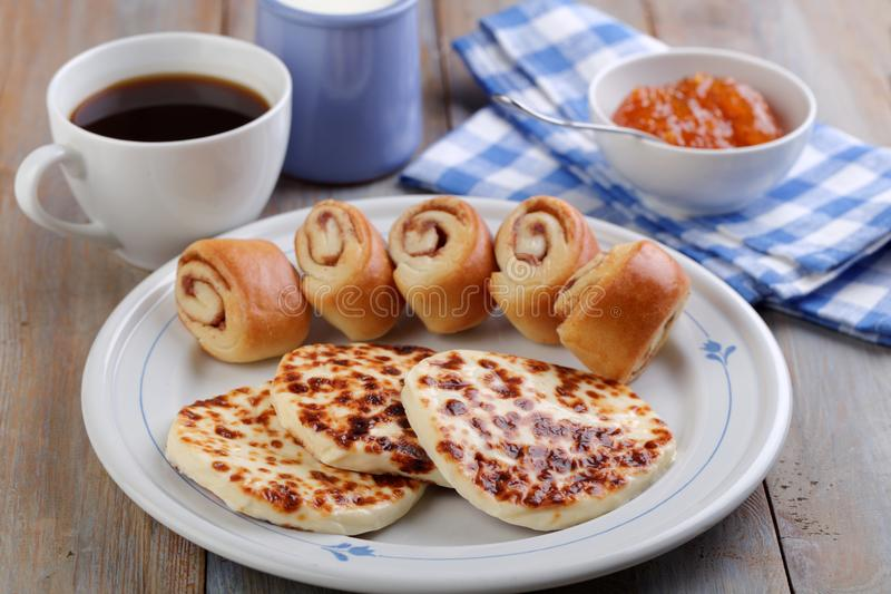 Finnish breakfast royalty free stock photography