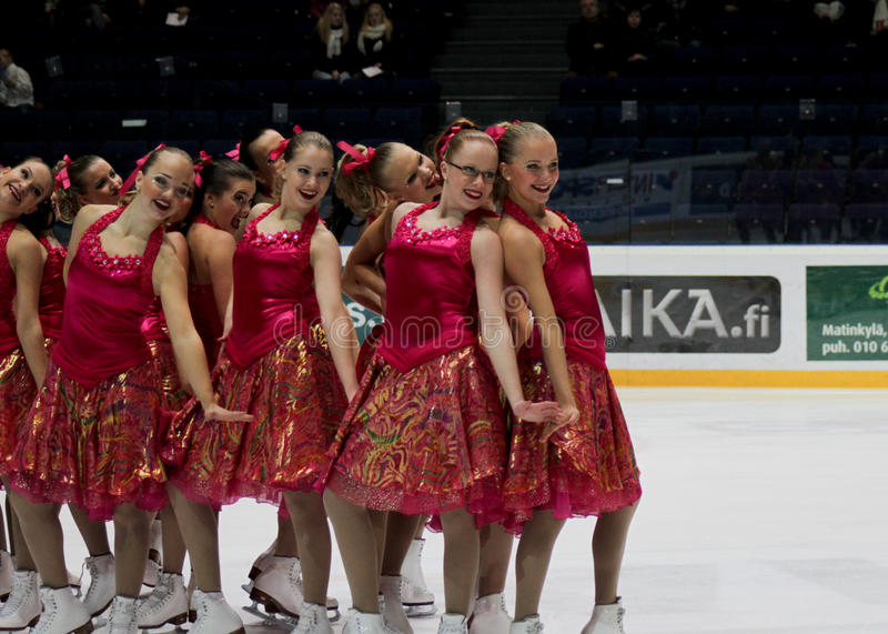 Download Finnish Championships 2010 - Synchronized Skating Editorial Image - Image: 13223335
