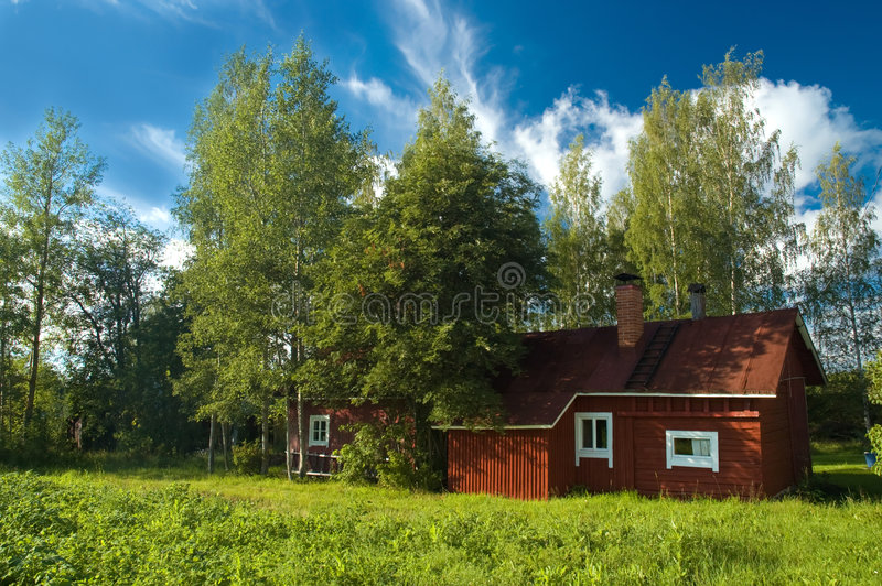 Finnish cottage royalty free stock photography