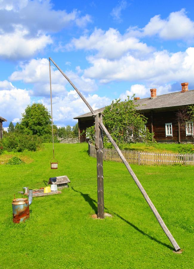 Finland, Savonia: Farm with Sweep Well royalty free stock photo