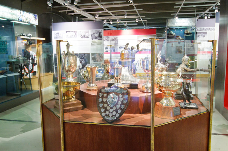 The Finnish Hockey Hall Of Fame, Trophies Editorial Photography