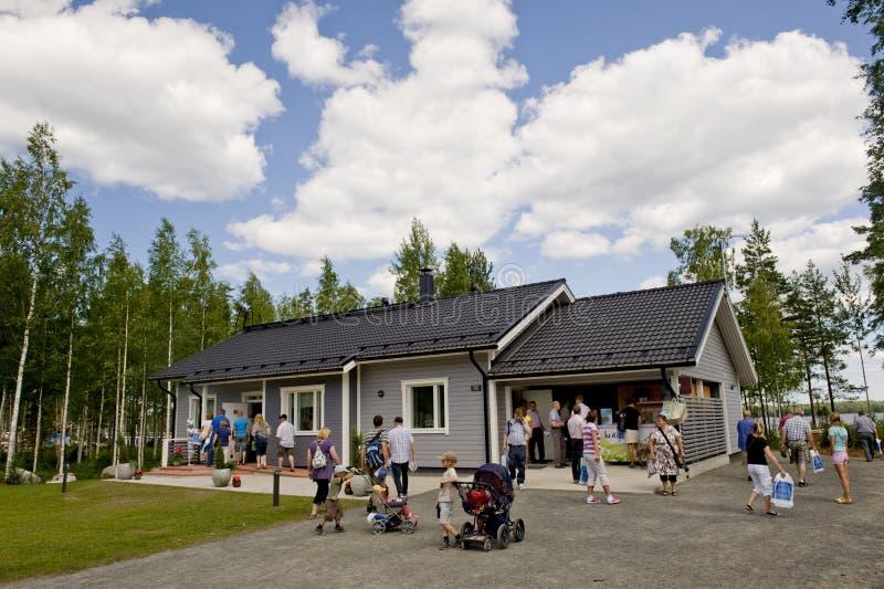 Finnish private houce stock photo