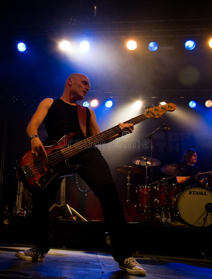 Finnish rockers Poets of the Fall live on stage royalty free stock photos