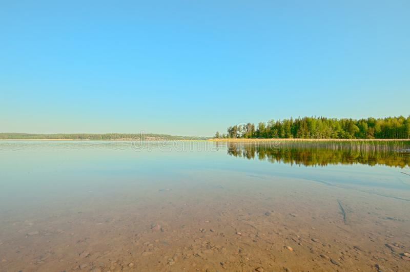 Finnish Summer and nature at its best, a traditional landscape is calm and peaceful. Located in Tammisaari Finland. Finnish Summer and nature at its best, a royalty free stock photos