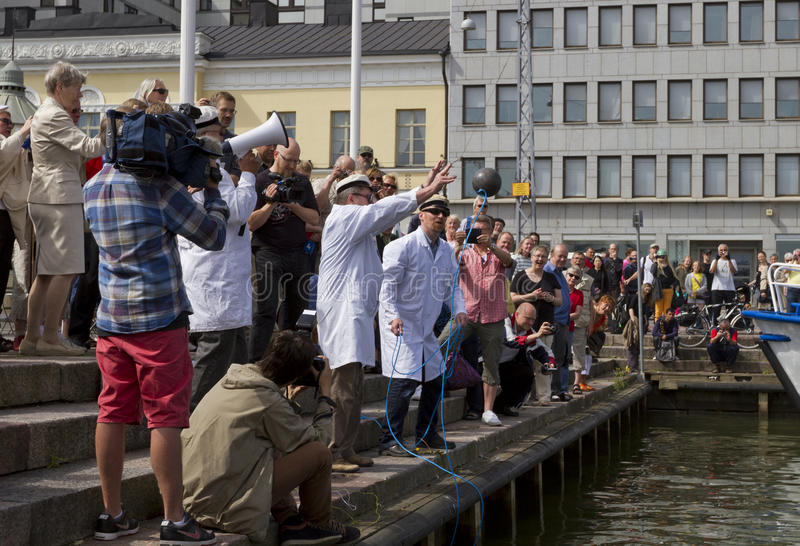 Download Finnish Unscientific Society Throwing Cold Stone Editorial Photo - Image of helsinki, cholera: 25861866