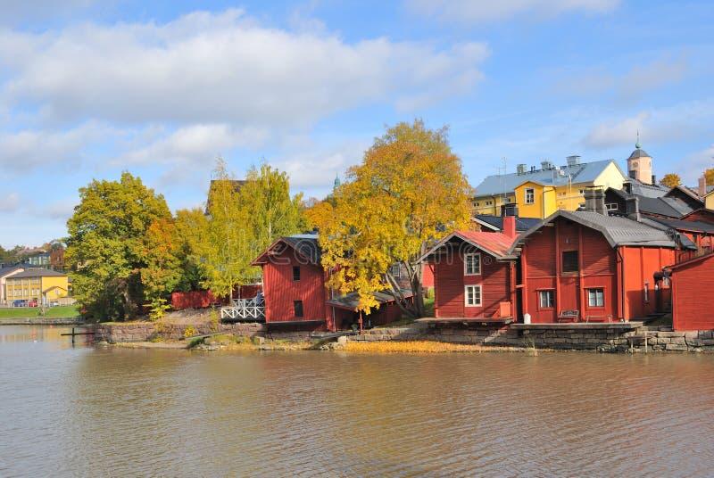 Finnland. Herbst in Porvoo stockfoto