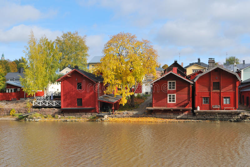finnland Herbst in Porvoo stockfotografie