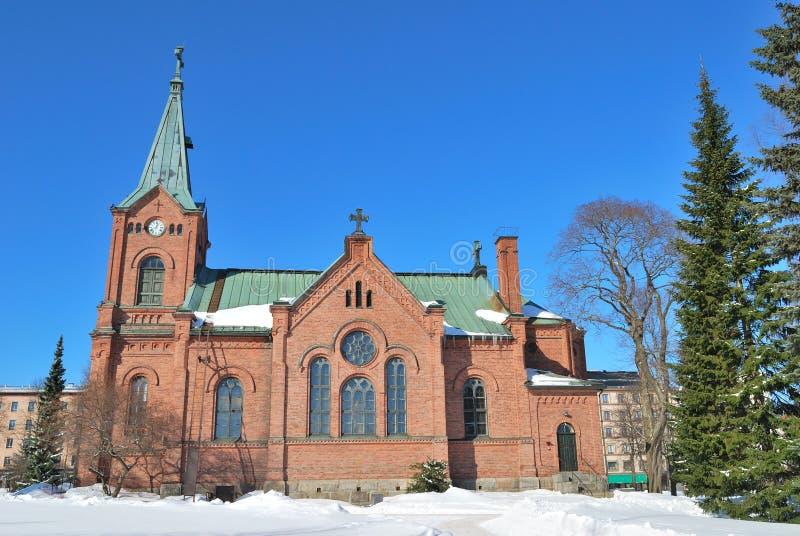 Finnland. Jyvaskyla Stadtkirche lizenzfreies stockfoto