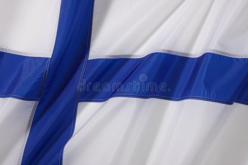 Finnland-Markierungsfahne lizenzfreie stockfotos