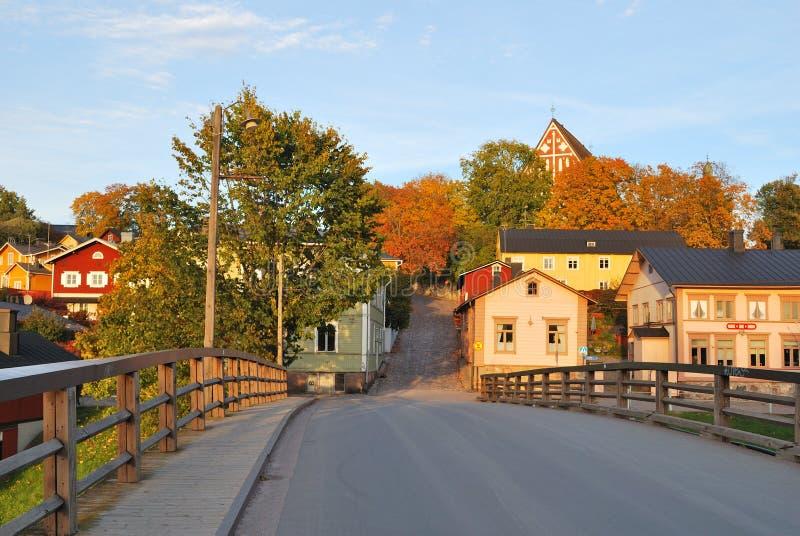 Finnland.  Porvoo im Herbst stockbild