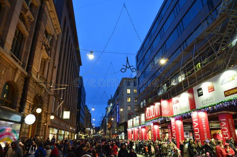 Finnland Sonntag Abend stockbilder