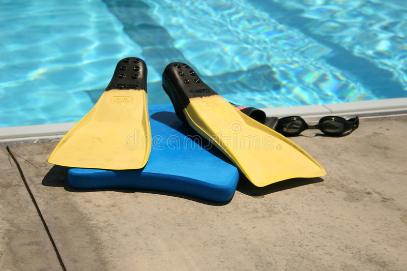 Download Fins stock image. Image of water, pool, goggles, buoys - 216863