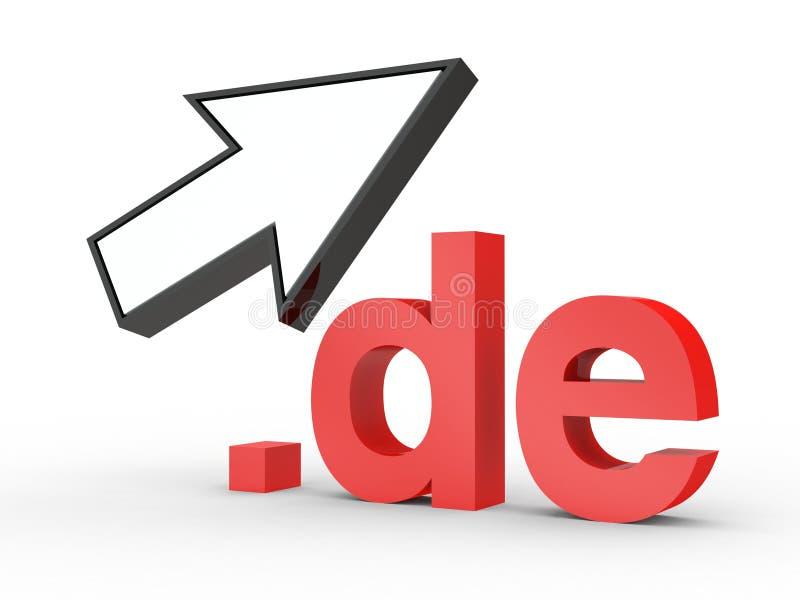 Fins d'adresse de Domain Name de site Web avec la flèche photos stock