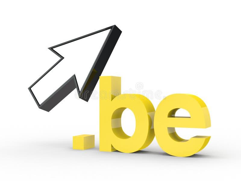 Fins d'adresse de Domain Name de site Web avec la flèche photographie stock libre de droits
