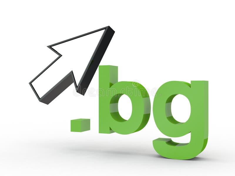 Fins d'adresse de Domain Name de site Web avec la flèche photo libre de droits