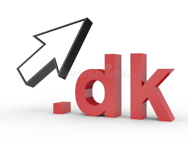 Fins d'adresse de Domain Name de site Web avec la flèche photos libres de droits