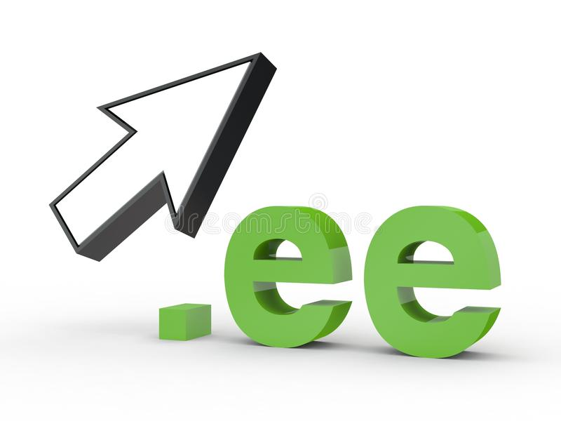 Fins d'adresse de Domain Name de site Web avec la flèche images stock