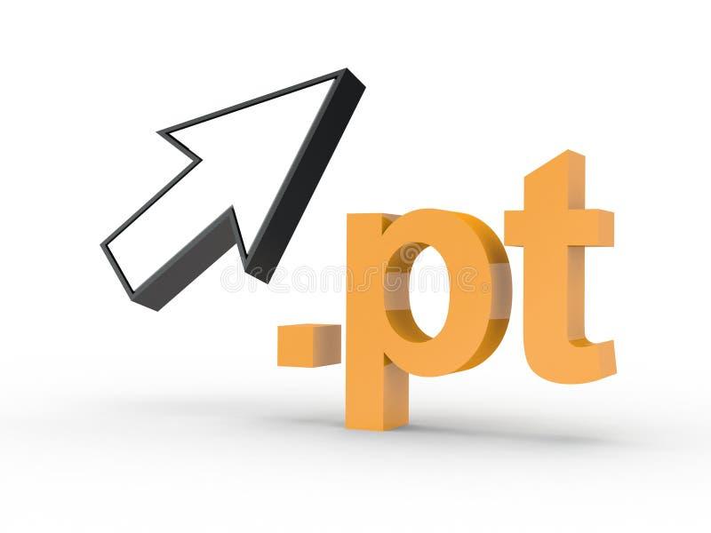 Fins d'adresse de Domain Name de site Web avec la flèche photographie stock