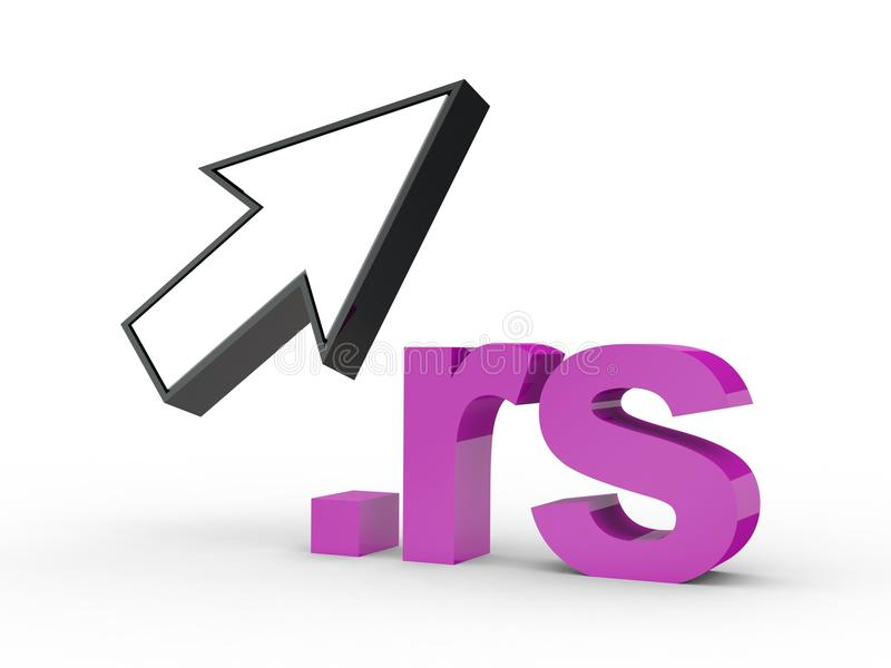 Fins d'adresse de Domain Name de site Web avec la flèche images libres de droits