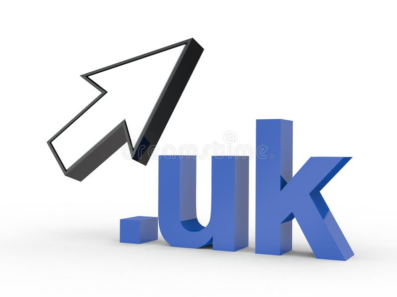 Fins d'adresse de Domain Name de site Web avec la flèche image stock