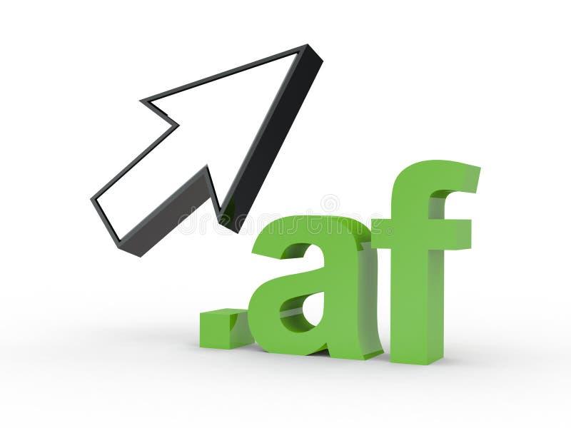 Fins d'adresse de Domain Name de site Web avec la flèche photo stock