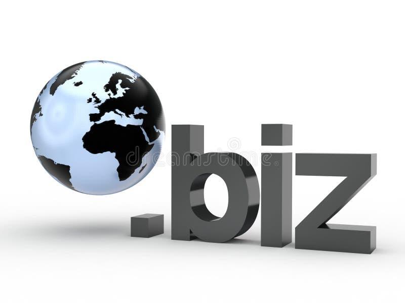Fins d'adresse de Domain Name de site Web avec le globe photo stock