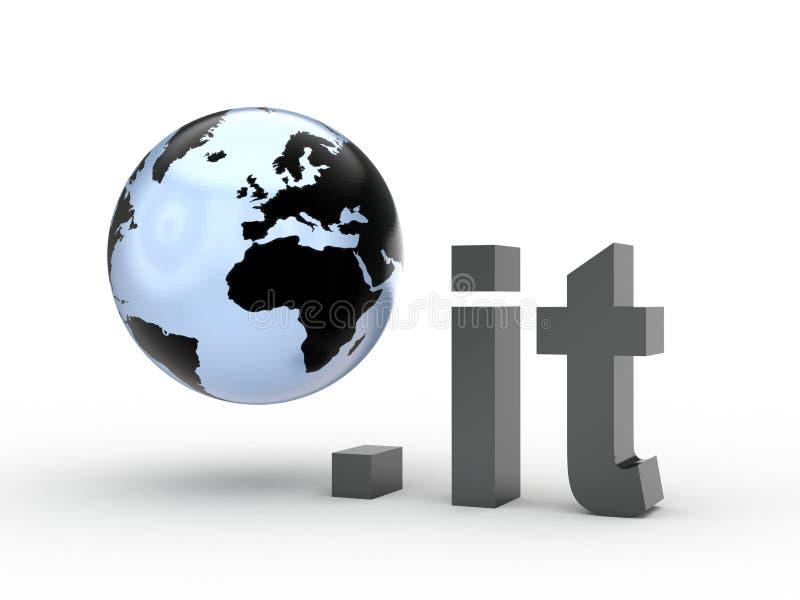 Fins d'adresse de Domain Name de site Web avec le globe photo libre de droits