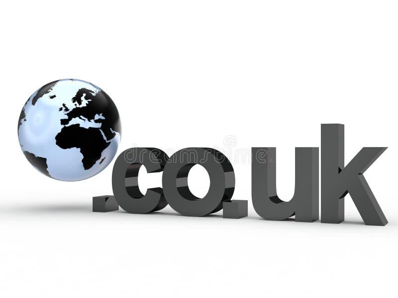 Fins d'adresse de Domain Name de site Web avec le globe images stock