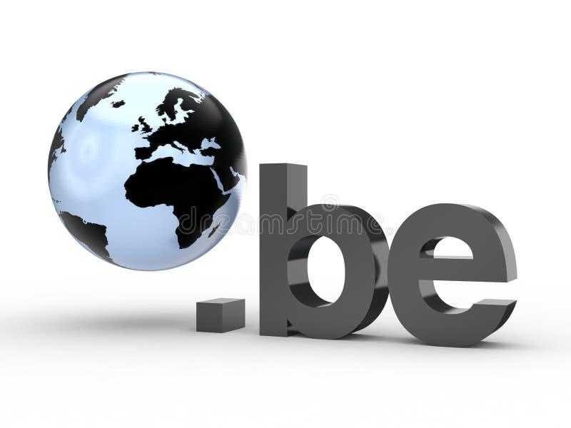 Fins d'adresse de Domain Name de site Web avec le globe images libres de droits