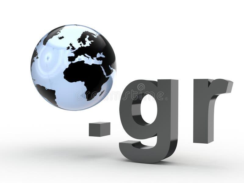 Fins d'adresse de Domain Name de site Web avec le globe image libre de droits
