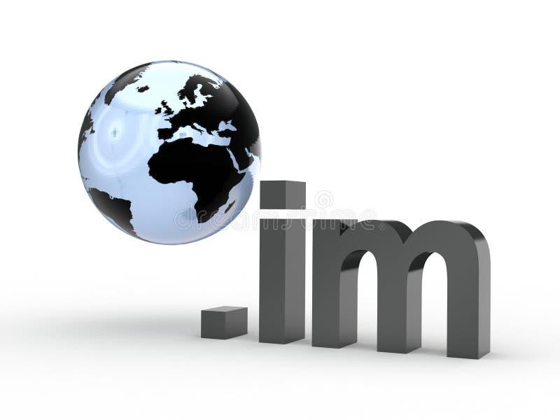 Fins d'adresse de Domain Name de site Web avec le globe photographie stock libre de droits