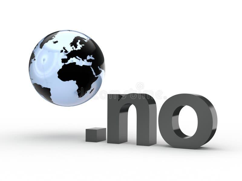 Fins d'adresse de Domain Name de site Web avec le globe image stock
