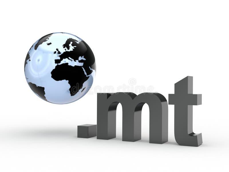 Fins d'adresse de Domain Name de site Web avec le globe photographie stock