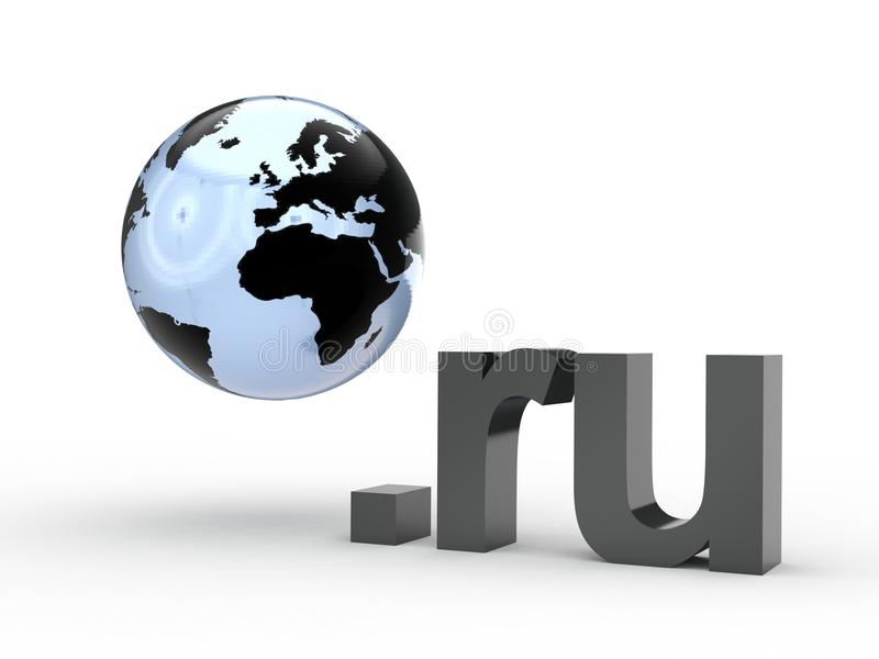 Fins d'adresse de Domain Name de site Web avec le globe photos stock