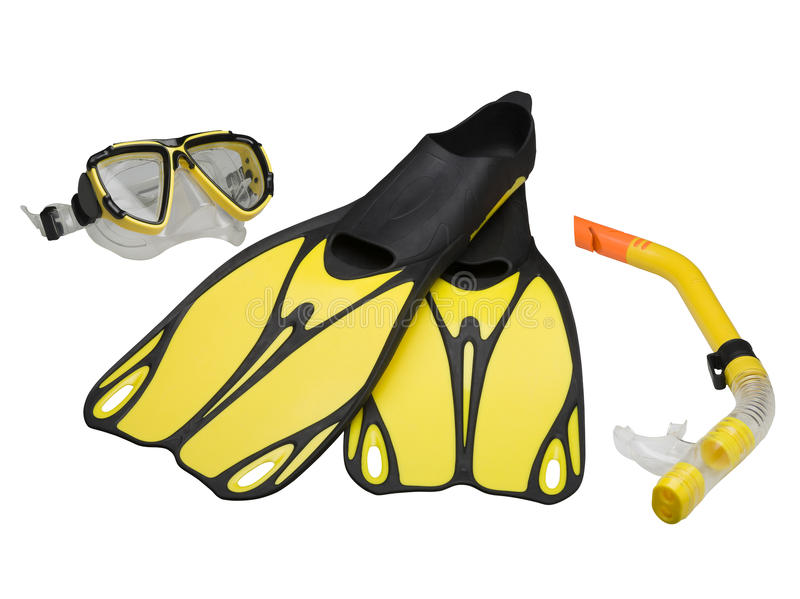 Download Fins, Mask And Snorkel (clipping Path) Stock Image - Image: 16264093