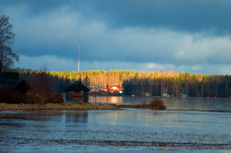 Fins meerlandschap royalty-vrije stock afbeelding