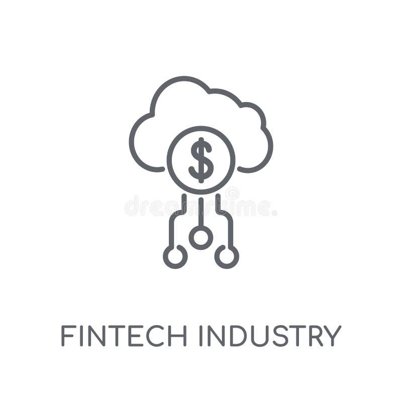fintech产业线性象 现代概述fintech产业lo 库存例证