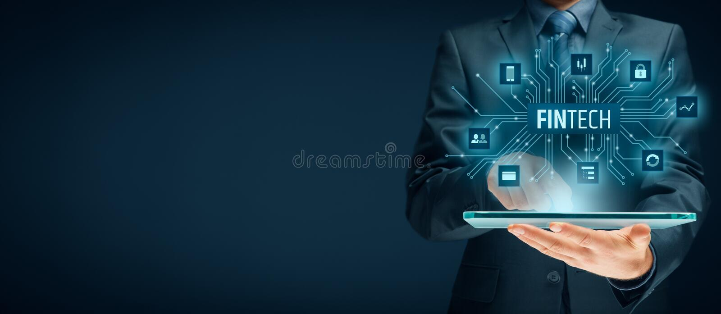 Fintech και οικονομική τεχνολογία στοκ εικόνες
