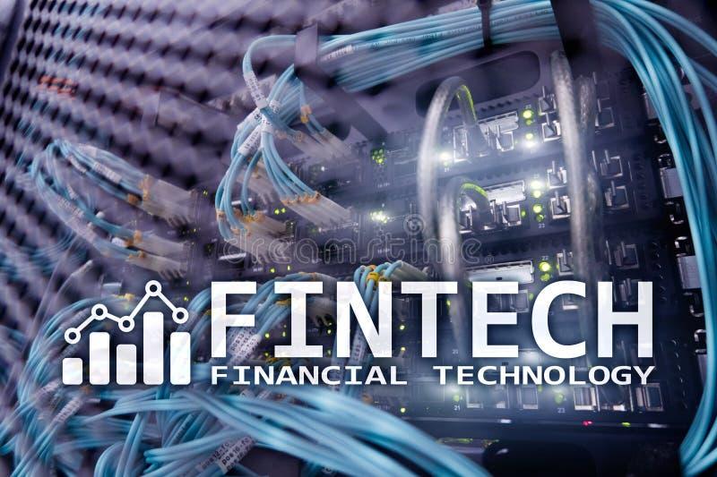Fintech - Financiële technologie Bedrijfsoplossing en software-ontwikkeling royalty-vrije stock afbeeldingen