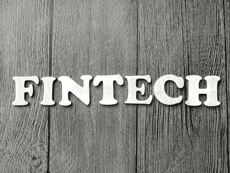 Fintech, het Motievenconcept van Bedrijfswoordencitaten stock afbeeldingen
