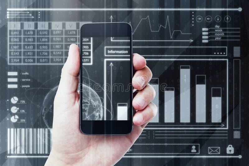 Fintech i analityka pojęcie zdjęcia stock