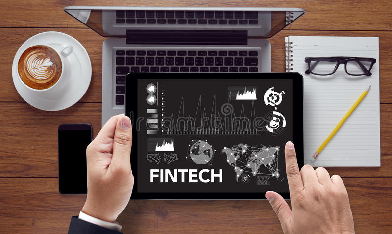 FINTECH-Investitions-Finanzinternet-Technologie stockbild