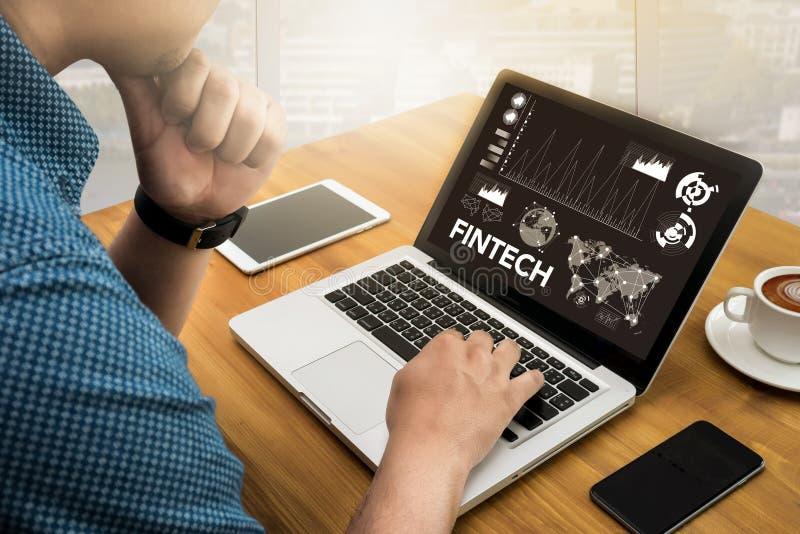 FINTECH-Investitions-Finanzinternet-Technologie lizenzfreies stockbild