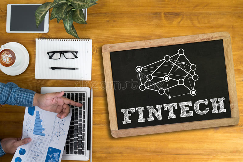 FINTECH Investment Financial Internet Technology royalty free stock photography