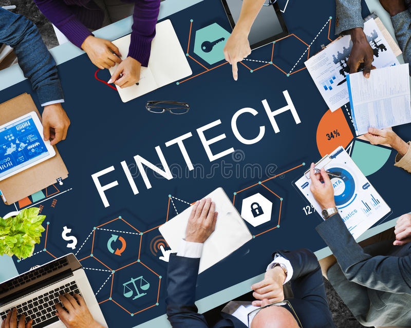 Fintech Investment Financial Internet Technology Concept royalty free stock images