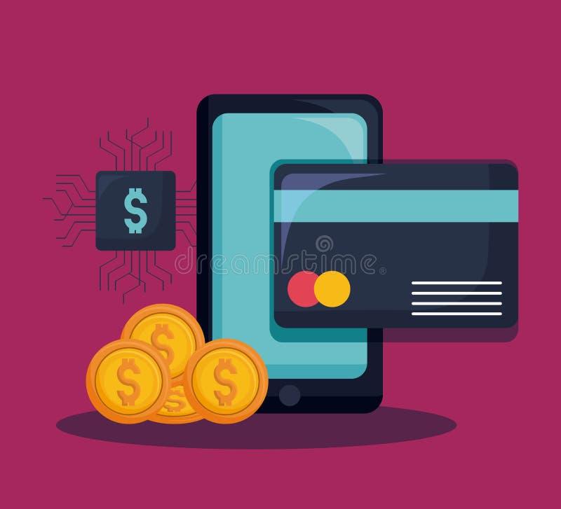 Financial Internet Technology Concept. Fintech Investment Financial Internet Technology Concept vector illustration graphic design vector illustration